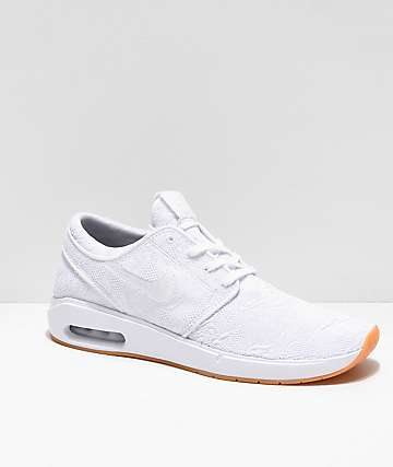 94458766022 Nike SB Janoski Air Max 2 White   Gum Skate Shoes