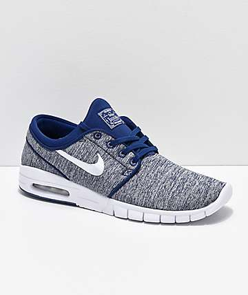 Nike SB Janoski Air Max Blue Void   White Skate Shoes 70e839ac8