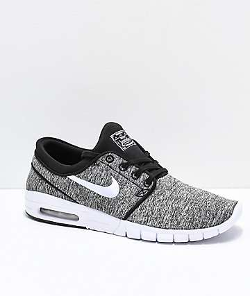Nike SB Janoski Air Max Heather Grey Skate Shoes 4298ec51597f
