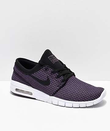 Nike SB Janoski Air Max zapatos de skate en morado y blanco