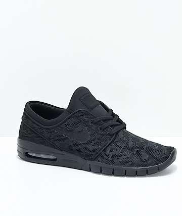 Nike SB Janoski Air Max zapatos de skate negros