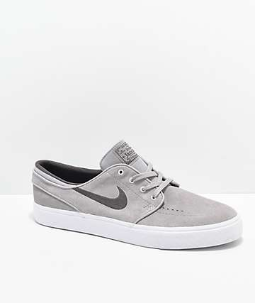 Nike SB Janoski Atmosphere Grey & White Suede Skate Shoes