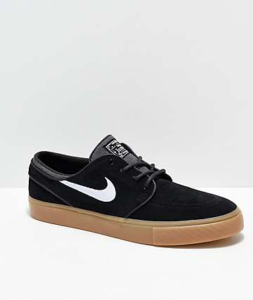 Nike SB Janoski Black & Gum Skate Shoes