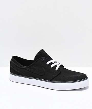 Nike SB Janoski Black & White Skate Shoes