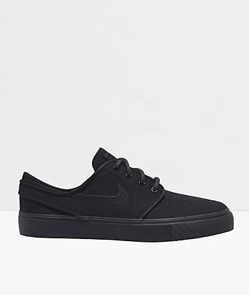 Nike SB Janoski Black Canvas Skate Shoes