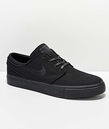 b6ec0a18e7c411 Nike SB Janoski Black Canvas Skate Shoes