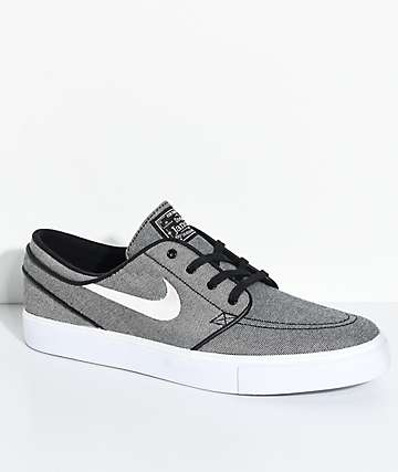 Zoom Stefan Janoski Canvas Deconstructed S Sneakers black / anthracite / white / hyNike 1m8H6
