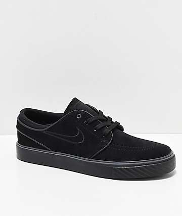 Nike SB Janoski Black Suede Skate Shoes