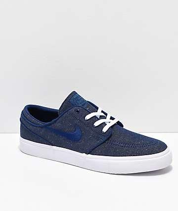 Nike SB Janoski Blue Void zapatos de skate de lienzo