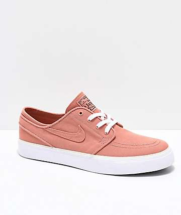 Nike SB Janoski Blush & White Skate Shoes