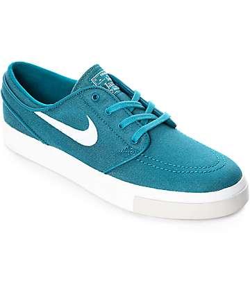 Nike SB Janoski Blustery & Ivory Canvas Skate Shoes