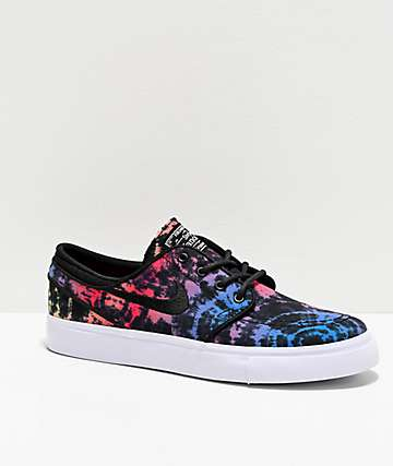 separation shoes 26996 5024d Nike SB Janoski Bright Crimson   Black Tie Dye Skate Shoes