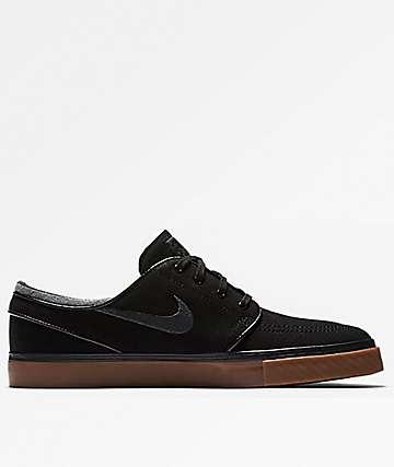 Nike SB Janoski Canvas Black, Anthracite & Gum Shoes