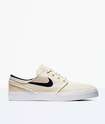 low priced 7b3db cd845 Nike SB Janoski Canvas Cream   Obsidian Skate Shoes