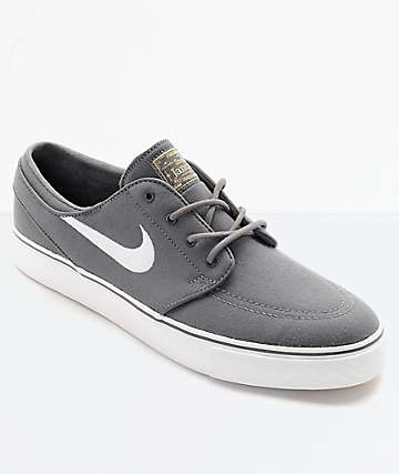 a2ebbe338e47 Nike SB Janoski Canvas Grey   White Skate Shoes
