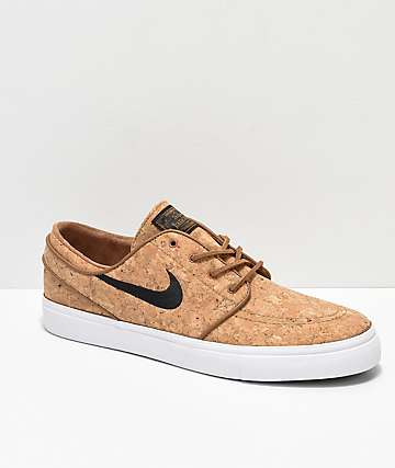 9b1c0fc6e53c Nike SB Janoski Elite Ale Brown   White Cork Skate Shoes