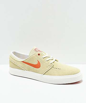 Nike SB Janoski Fossil & Coral Suede Skate Shoes