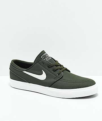 timeless design eda39 b8156 ... ebay nike sb janoski green white canvas ripstop skate shoes acfb4 d2f82