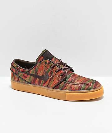 new arrival 53cb0 1782c Nike SB Janoski Guatemalan Print   Gum Skate Shoes