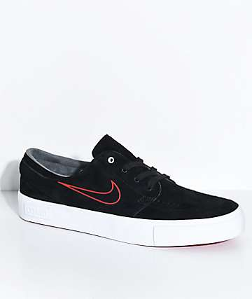 Nike SB Janoski High Tape O'Neill Black, Red & White Skate Shoes