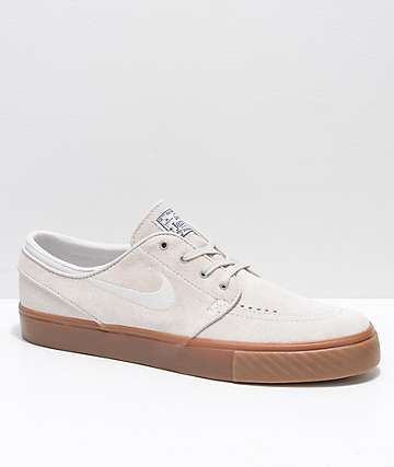 Nike SB Janoski Light Bone & Gum Suede Skate Shoes