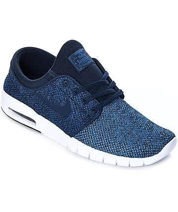 Nike SB Janoski Max zapatos de skate en blanco y negro