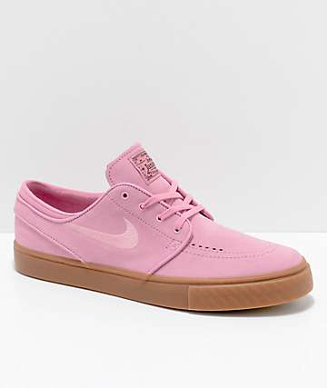 Nike SB Janoski Pink & Gum Suede Skate Shoes