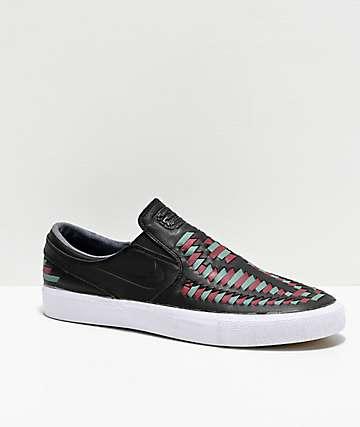 Nike SB Janoski Premium Crafted Black Slip On Skate Shoes