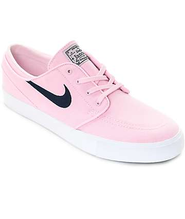 Nike SB Janoski Prism Pink   Navy Canvas Skate Shoes d32d9f636