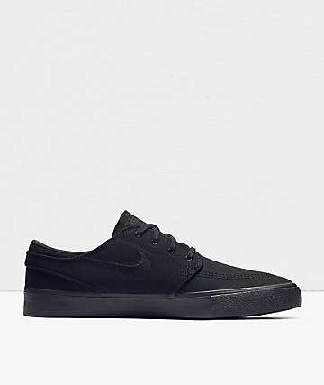 Nike SB Janoski RM Black Canvas Skate Shoes