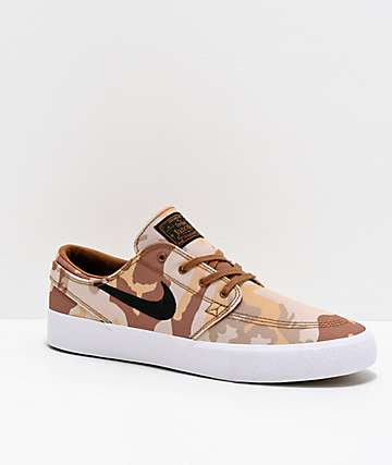 Nike SB Janoski RM Canvas Desert Camo Skate Shoes