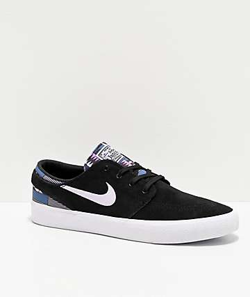 Nike SB Janoski RM Patchwork Black & Amethyst Skate Shoes