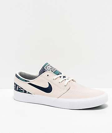 Nike SB Janoski RM Patchwork Summit White & Blue Skate Shoes