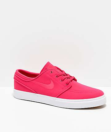 Nike SB Janoski Rush Pink & White Canvas Skate Shoes