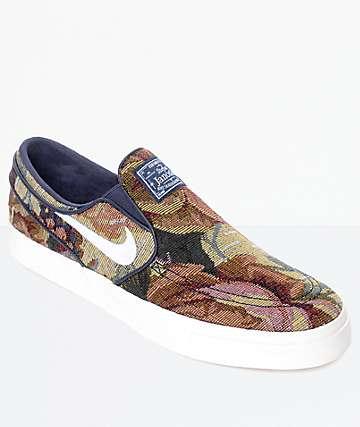 Nike SB Janoski Slip-On zapatos de skate con patrón sofá