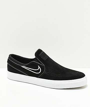 Nike SB Janoski Slip-On zapatos de skate de ante negro