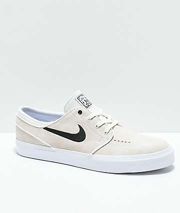 Nike SB Janoski Summit White & Black Skate Shoes