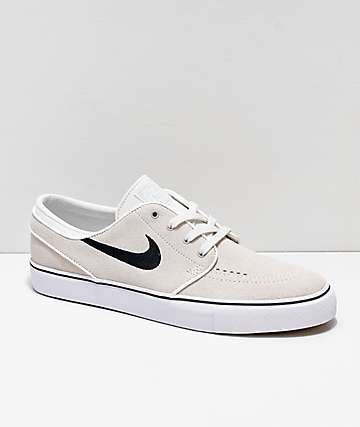 6e6d15b59a4da Nike SB Janoski Summit White   Black Suede Skate Shoes