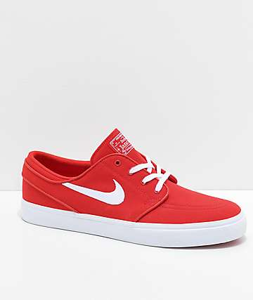 ecf0472be293 Nike SB Janoski University Red Canvas Skate Shoes