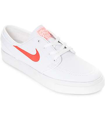 c95cfe1e912 Nike SB Janoski White   Air Max Orange Canvas Skate Shoes