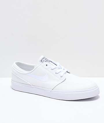 online store 99dec cb7c6 Nike SB Janoski White Canvas Skate Shoes