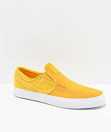 Nike SB Janoski Yellow Ochre Slip-On Skate Shoes