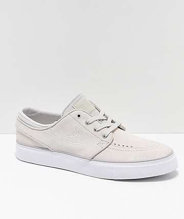 Nike SB Janoski zapatos de skate de ante blanco