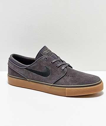 Nike SB Janoski zapatos de skate de ante gris oscuro