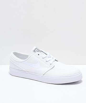 Nike SB Janoski zapatos de skate de lienzo blanco