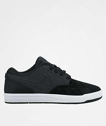 Nike SB Kids Fokus Black & White Shoes