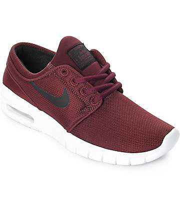 Nike SB Kids Janoski Air Max Dark Red Skate Shoes