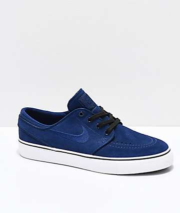 Nike SB Kids Janoski Blue Void & White Skate Shoes