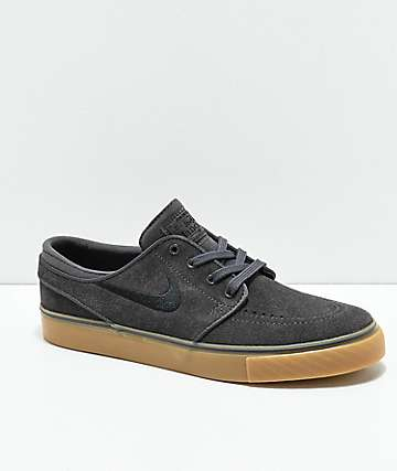 Nike SB Kids Janoski Dark Grey, Black & Gum Skate Shoes