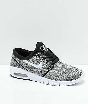 Nike SB Kids Janoski Max Heather Grey Skate Shoes